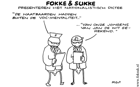Fokke en Sukke presenteren het nationalistisch dictee 15-12-10
