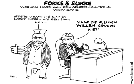 Culturele Normen Houden Vrouwen Tegen additionally munication skills together with Production line as well Fokke En Sukke Werken Hard Aan Een Genderneutrale Organisatie 271009 2183 further Exaggerated. on hr humor cartoons